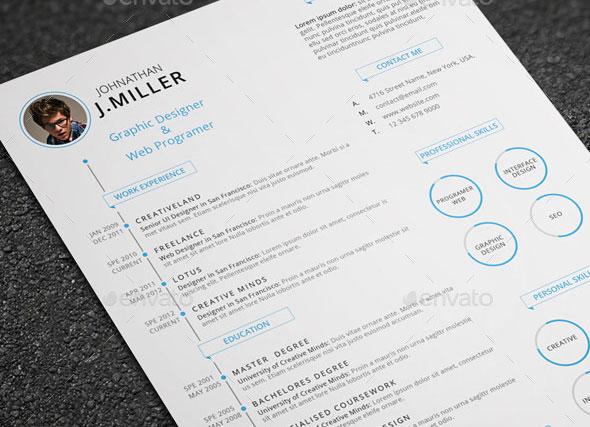 20 creative infographic resume templates web graphic design