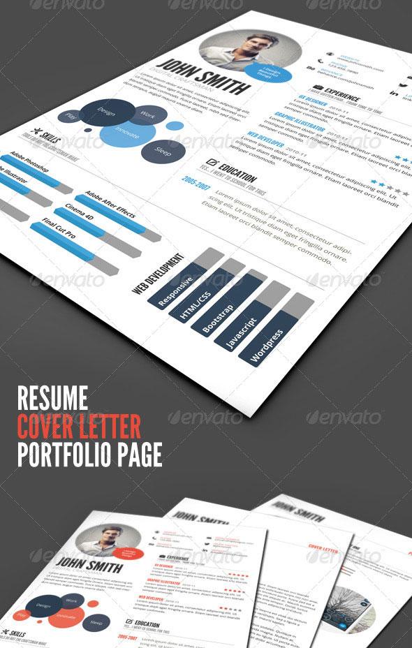 20 creative infographic resume templates web graphic