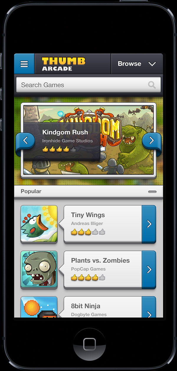 Chunky Game Store - iOS