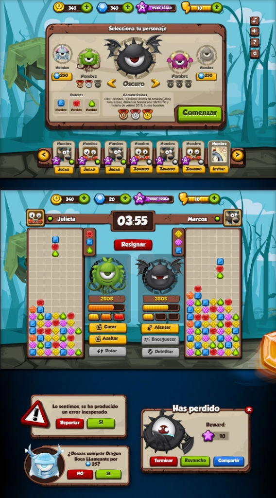 20 Ui Design Examples From Mobile Games Web Amp Graphic