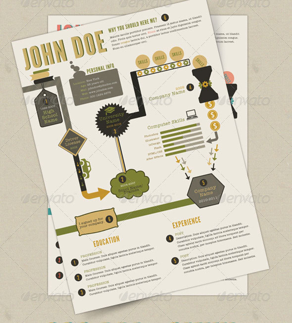 20 Creative Infographic Resume Templates | Web & Graphic Design