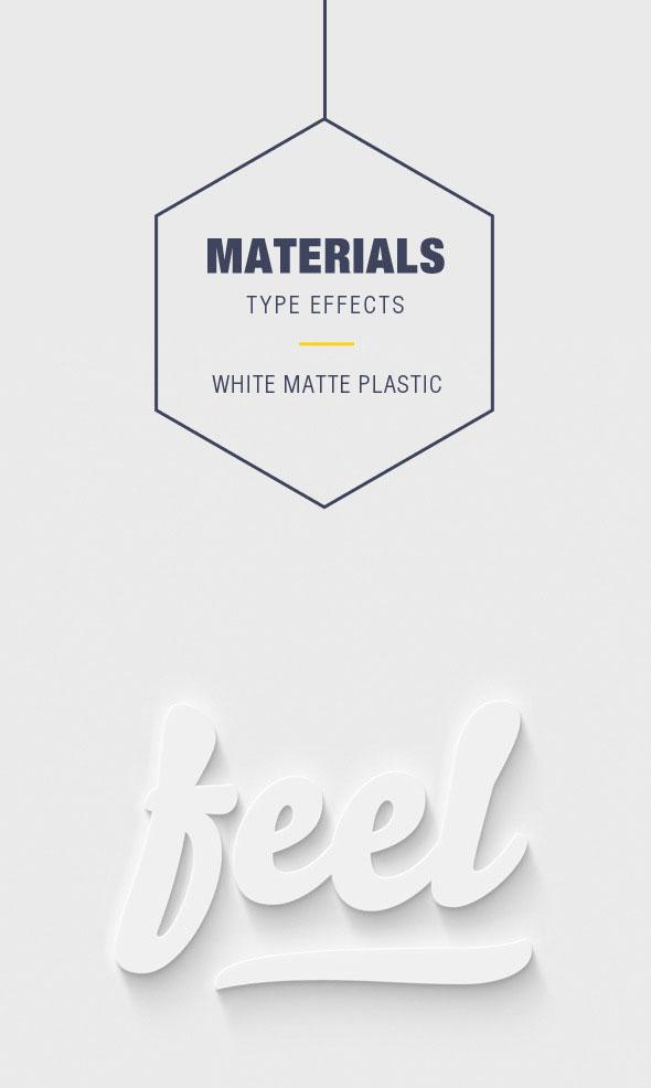 Efectos de tipo de material