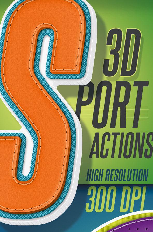 3D Sport Text