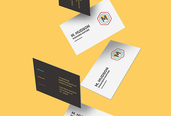 15 awesome free psd business card mockup templates web graphic falling business card mockups 10 reheart Gallery