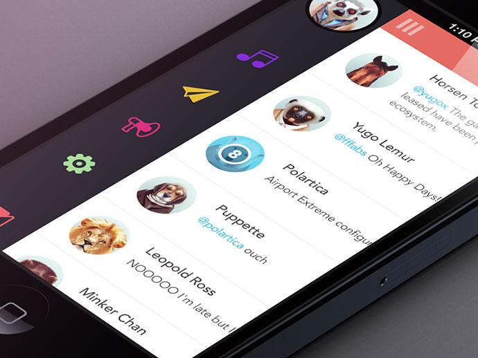 Brilliant mobile navigation menu design concepts web