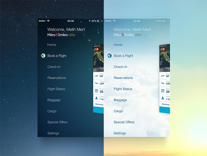 30 Brilliant Mobile Navigation Menu Design Concepts   Web   Graphic Design   Bashooka