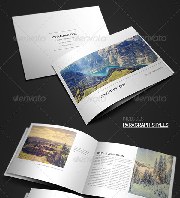 awesome brochure templates - 20 awesome indesign psd photography brochure templates