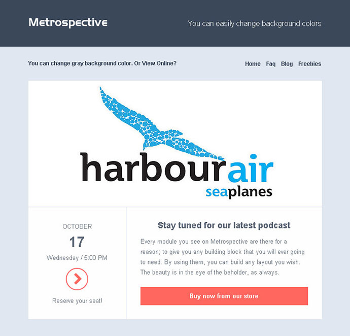 25 best responsive email templates web graphic design bashooka modern email template 10 pronofoot35fo Image collections