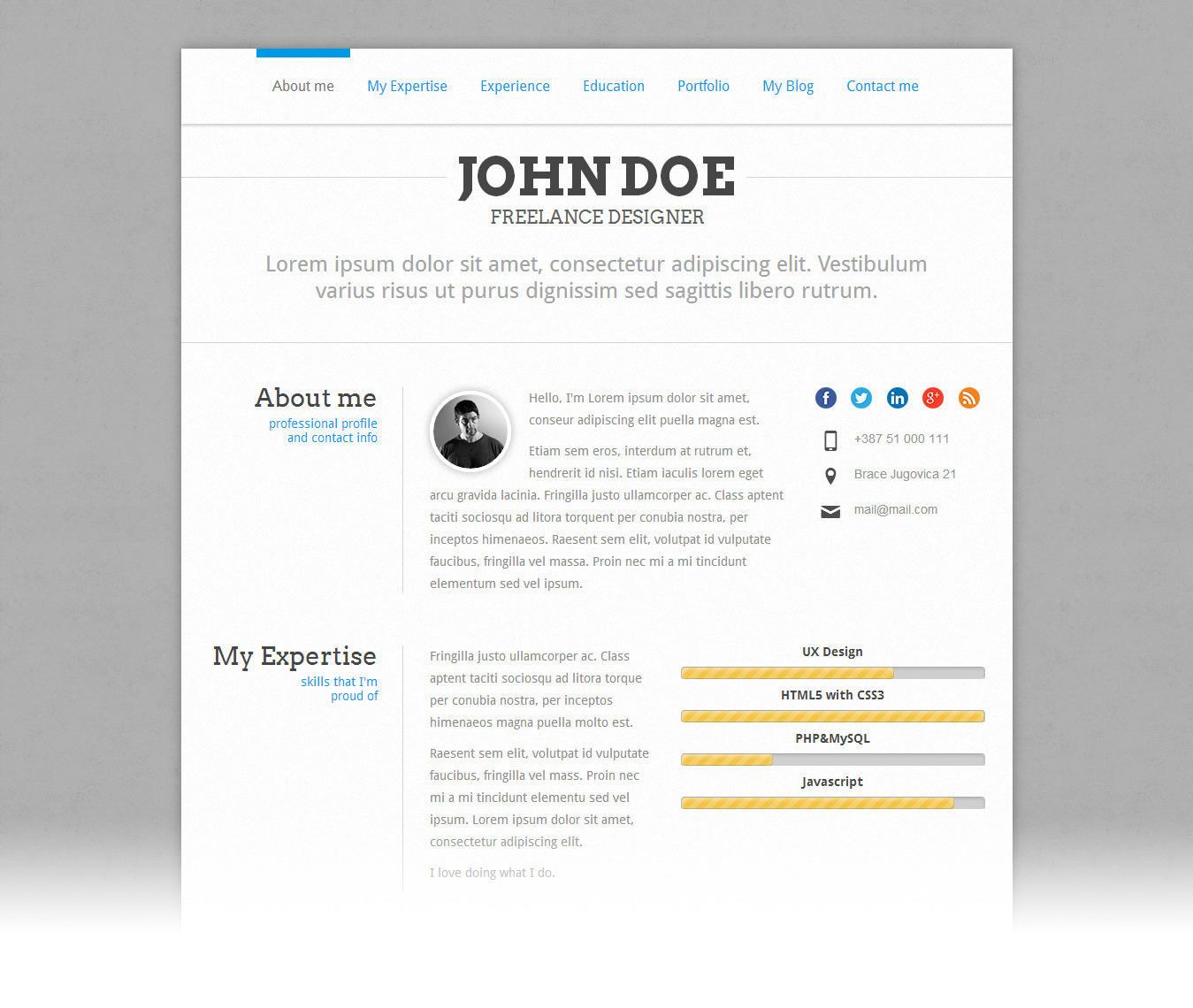 Perfectcv 2  Wordpress Resume Themes