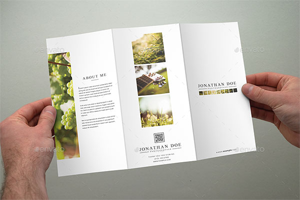 Awesome InDesign PSD Photography Brochure Templates Web - Trifold brochure template psd