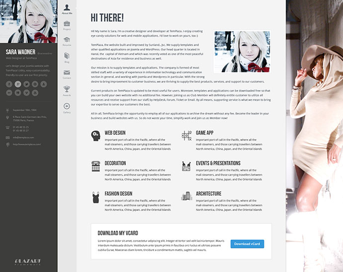 profiler 12 - Wordpress Resume Template