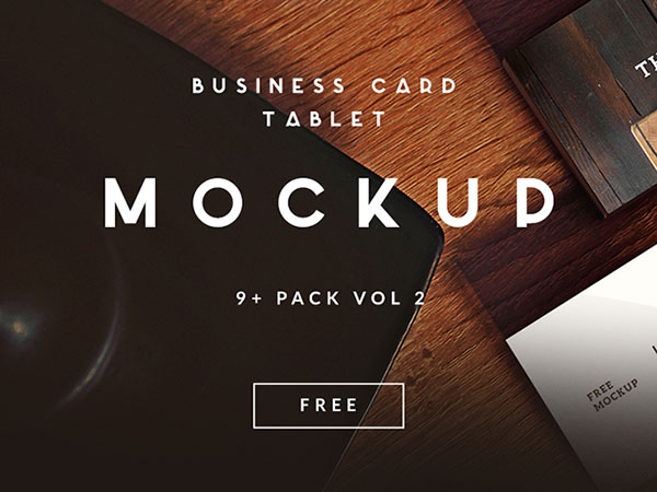 15 awesome free psd business card mockup templates web graphic 9 free business card tablet mockup 1 reheart Gallery