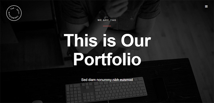 tag minimal wordpress theme