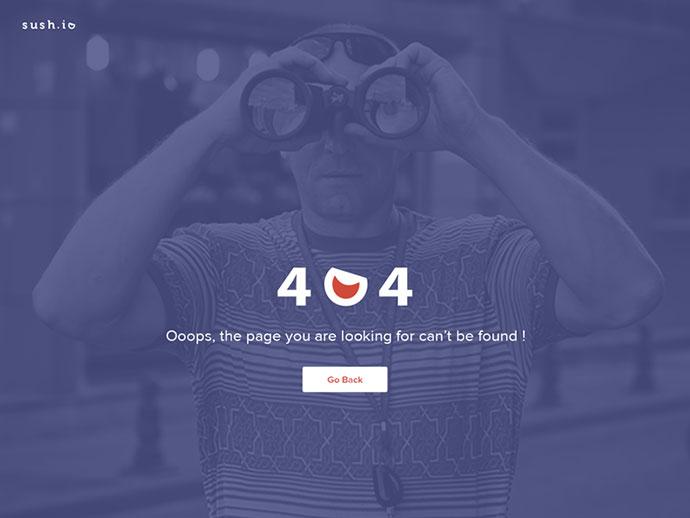 Sush.io 404 page