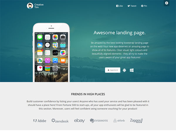 20 Free HTML & PSD Landing Page Templates | Web & Graphic Design ...