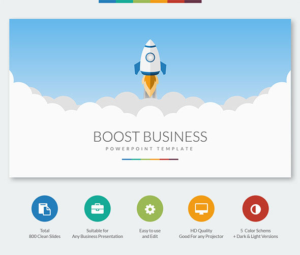 49 best powerpoint templates 2016 web graphic design bashooka boost business powerpoint template accmission Image collections