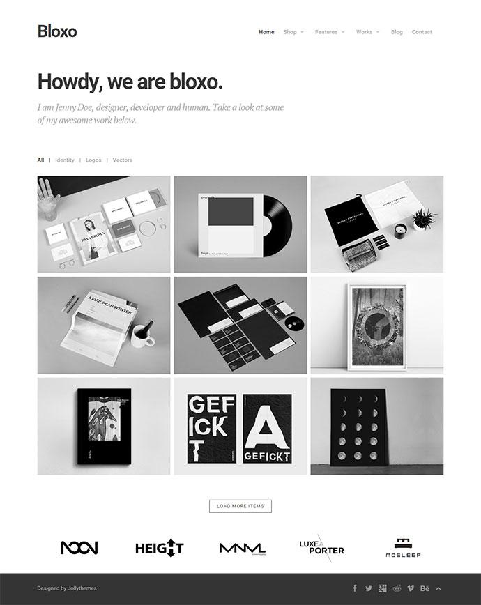 minimalist web template bloxo