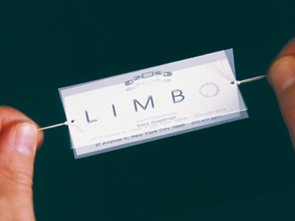 Interactive business card for a cafe called Limbo