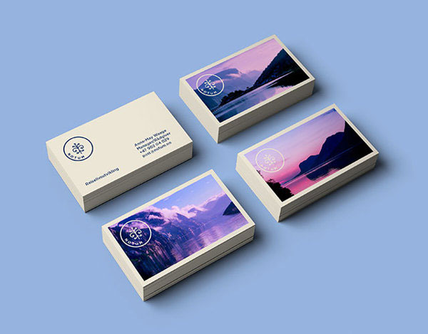 49 best examples of ingenious business cards web graphic pstcard stamp as logo together with photographs of norwegian nature photography business card reheart Image collections