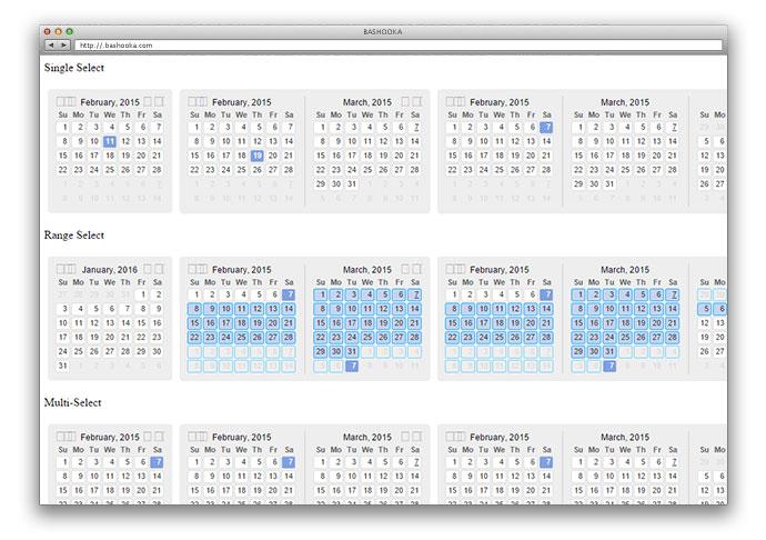 Calendar Design Javascript : Javascript calendars and date pickers web graphic