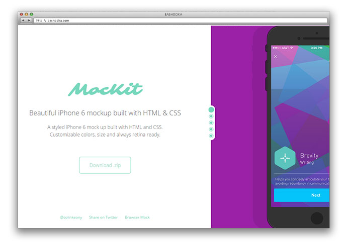 Beautiful iPhone 6 mockup built with HTML & CSS