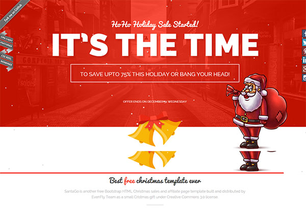 Christmas red free website templates in css, html, js format for.
