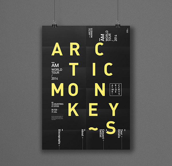 Calendar Typography Examples : Typography designs inspiration web graphic design