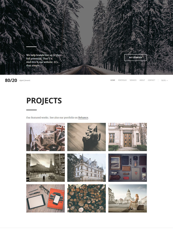 Responsive Retina Parallax HTML5 One-Page