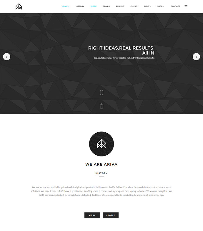 ARIVA is responsive one page portfolio template with clean,simple,minimalist and elegant design.