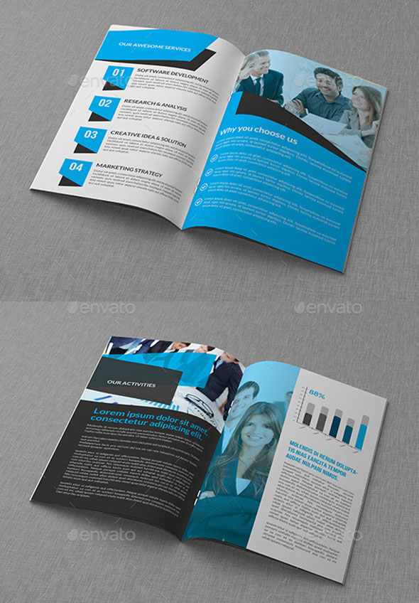 EyeCatching PSD InDesign Brochure Templates Web Graphic - Bi fold brochure template indesign