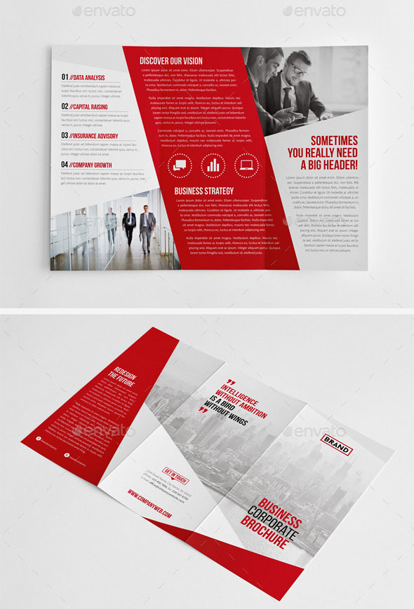 30 eye catching psd indesign brochure templates web for Graphic design brochure templates