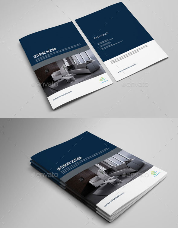 30 eye catching psd indesign brochure templates web for Indesign interior