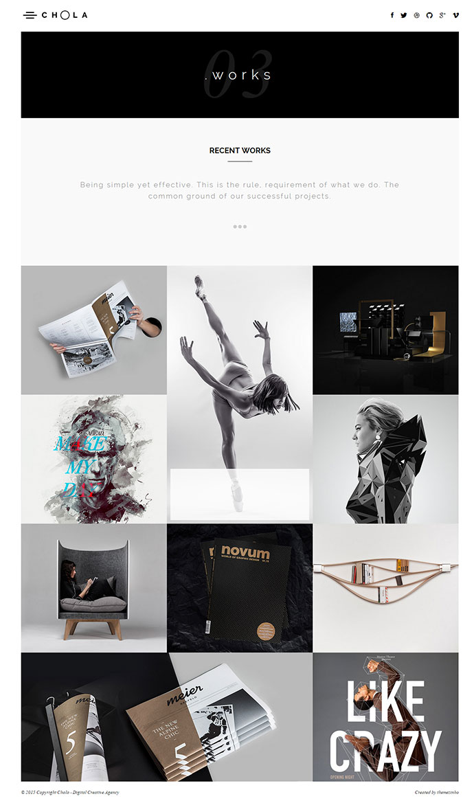 CHOLA – Digital Creative Agency Premium Portfolio Template modern design