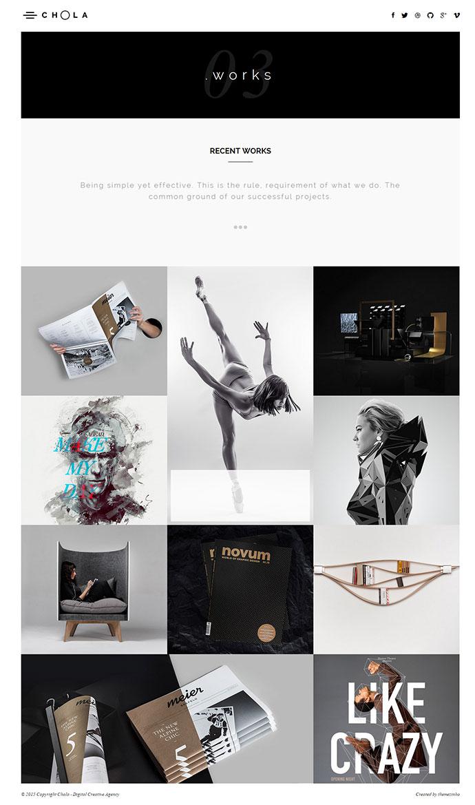 CHOLA – Digital Creative Agency Premium Portfolio Template modern design