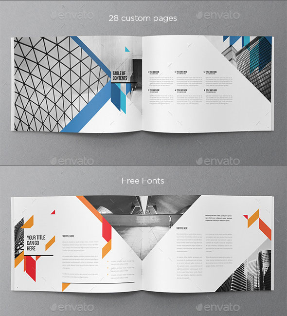 30 eye catching psd indesign brochure templates web for Modern brochure design