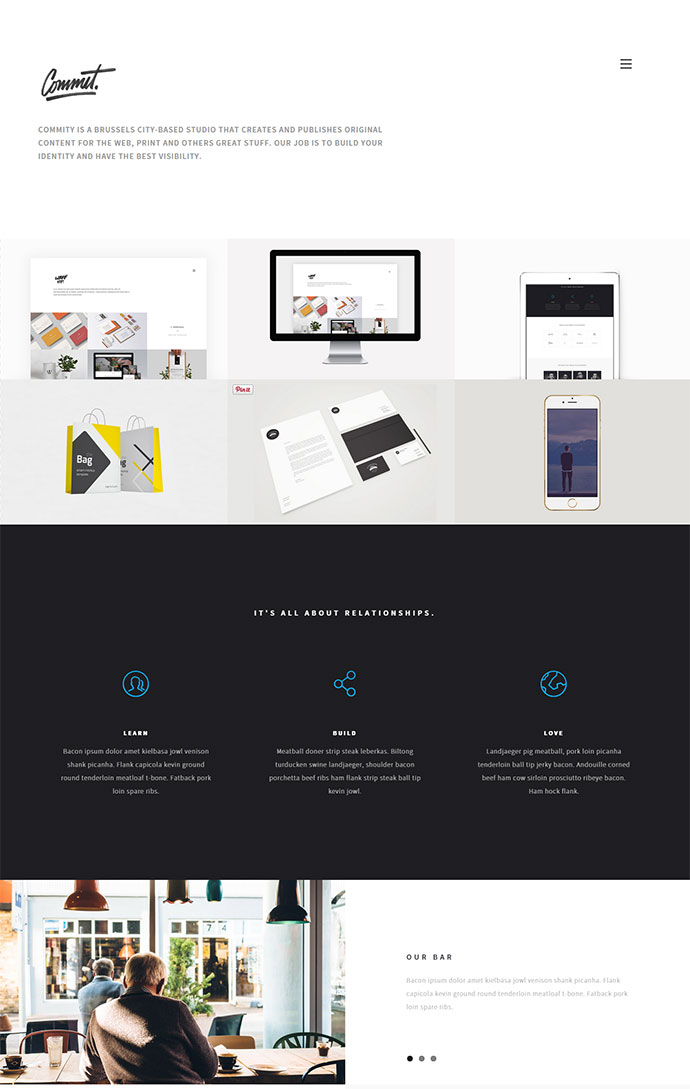 A Super Easy To Use Single Page Website Template