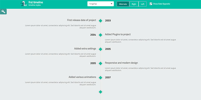 10 Javascript Timeline Libraries – Bashooka