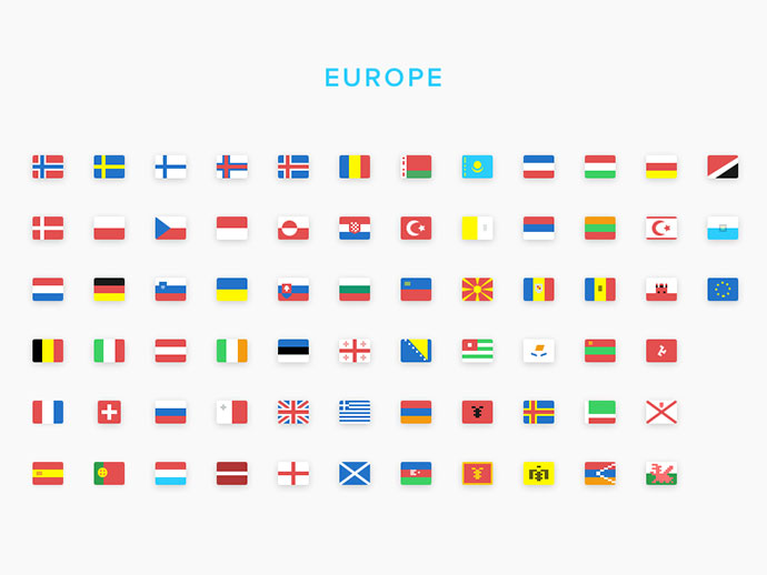 SEOshop Flags: Europe