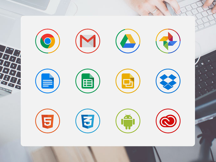 Free circle icons for designers