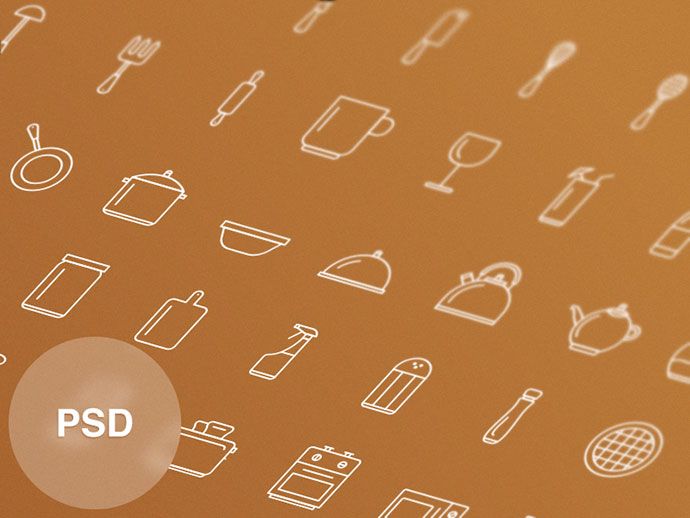 Free Kitchen Tools Icon Set