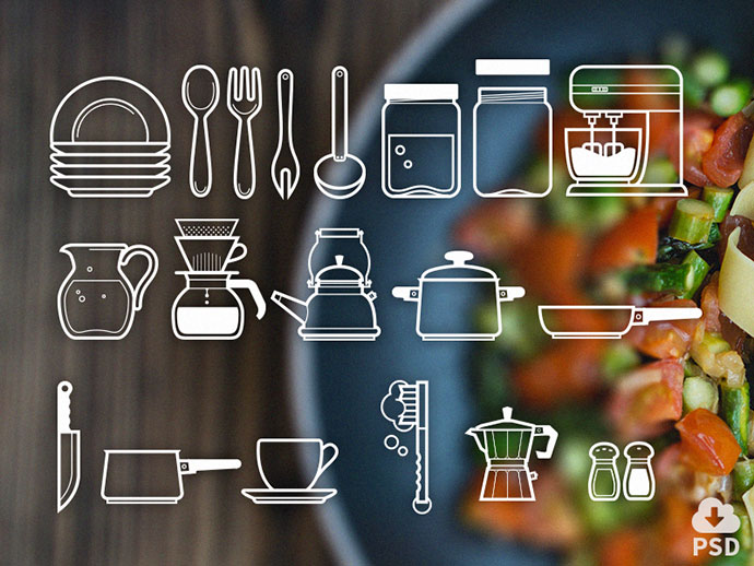 Free Icon Set: Cutlery Icons