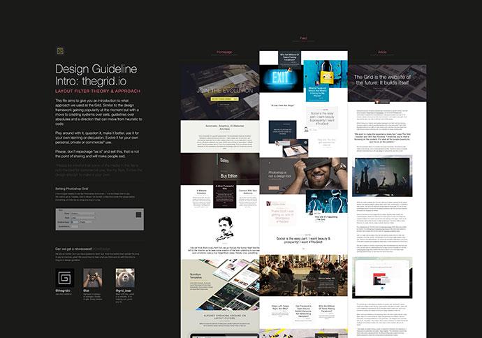 (Free PSDs) The Grid: Website