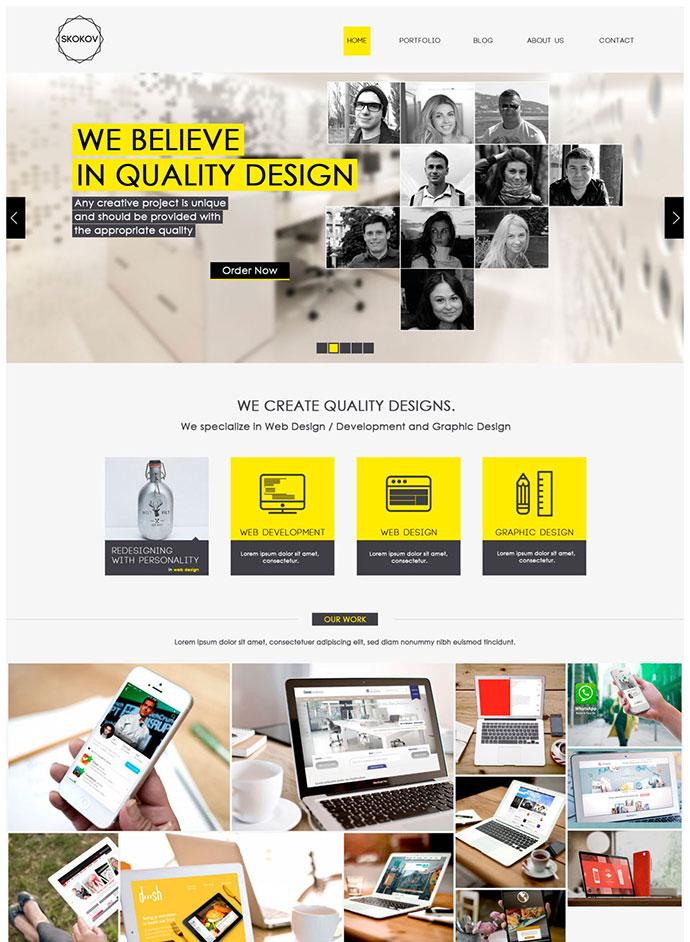 Free Corporate Web Design Template PSD