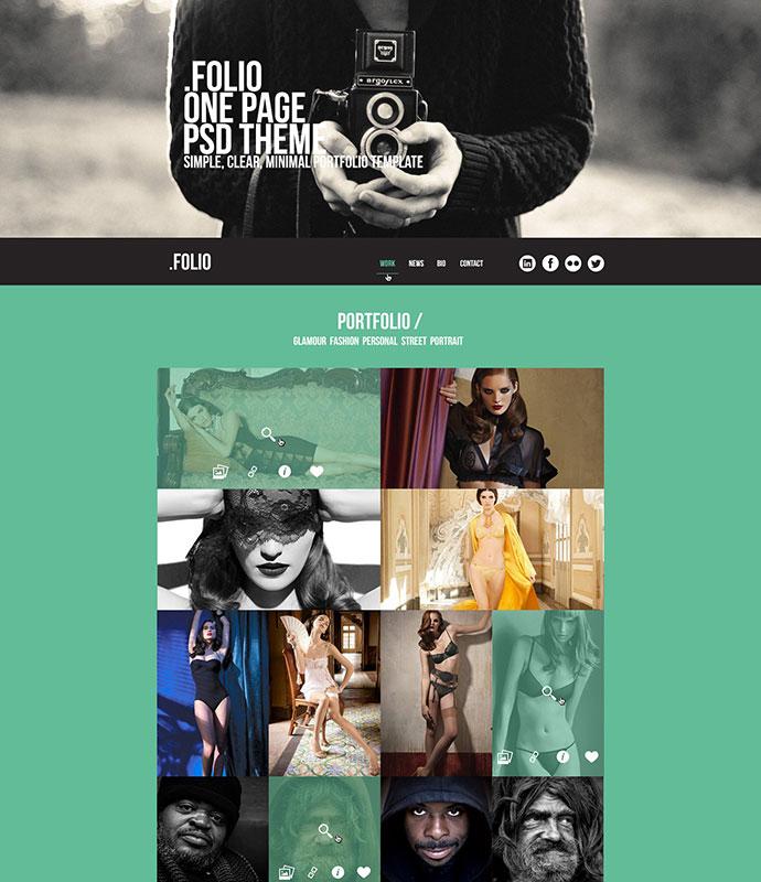 OnePage Psd Theme