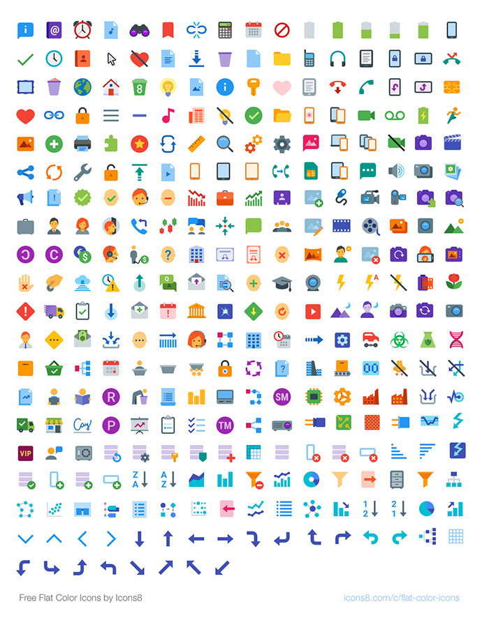 Free Flat Color Icons