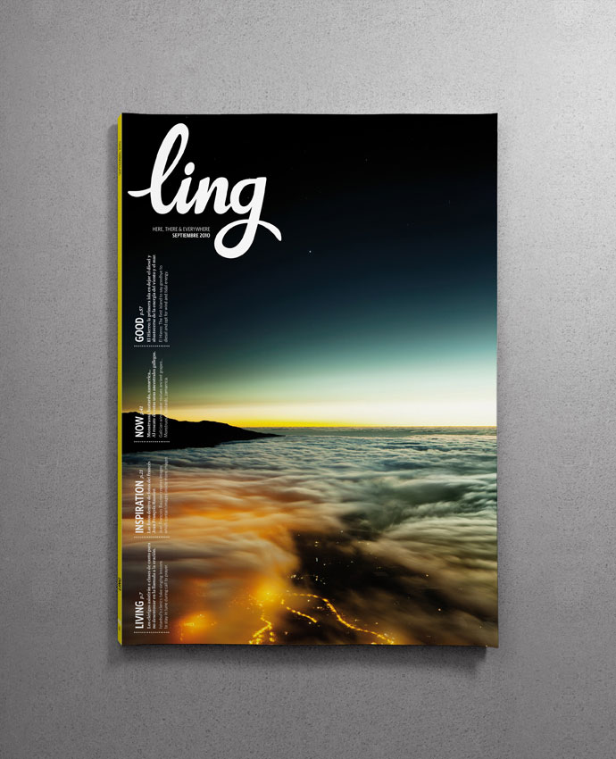 Redesign of Ling, the inflight magazine of vueling
