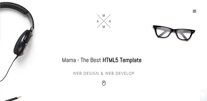 Minimal Responsive creative Portfolio HTML5 Template