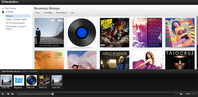 MediaBox leverages the power of jQuery and jPlayer and utilizes HTML5