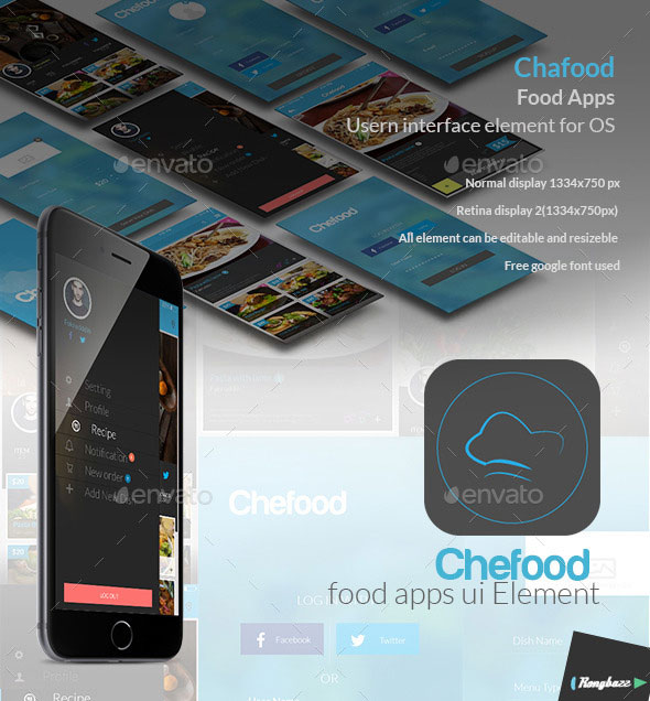Food Apps UI Element