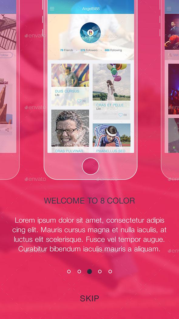 8 Color Walkthroughs Part - Mobile UI Kit